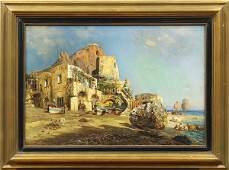 """Bernardo Hay, """"Capri,"""" oil on canvas"""