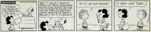 Charles Schulz, Peanuts Daily Comic Strip, ink on board