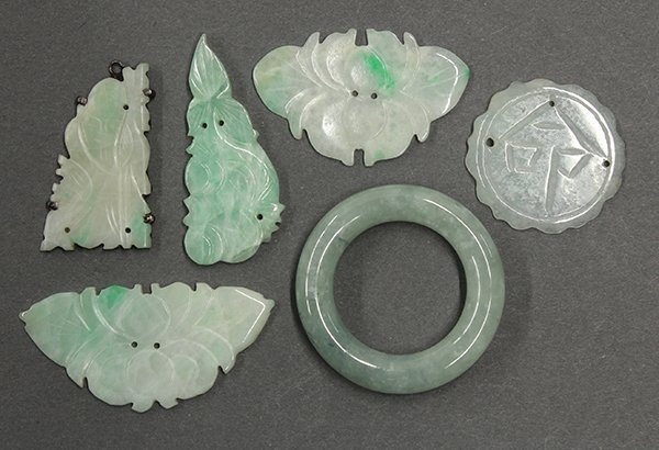 Group of Six Chinese Small Jade Carvings