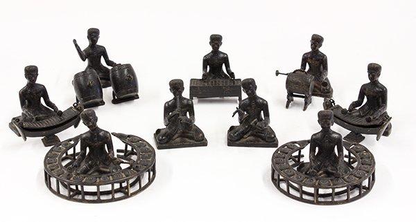 Seventeen Cambodian Bronze Figures