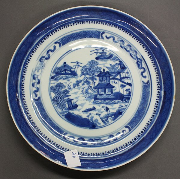 Two Chinese Blue-and-White Export Plates - 2