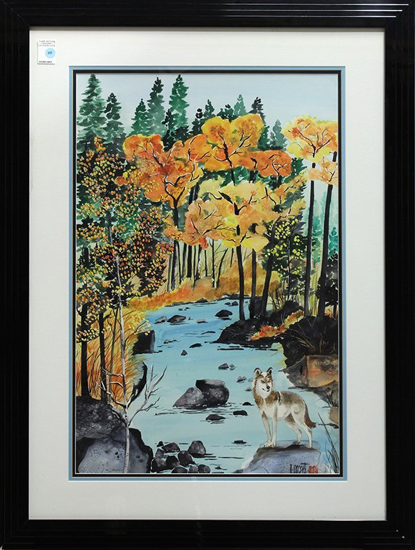 Watercolor, Audrey Dygert,  Autum in Truckee