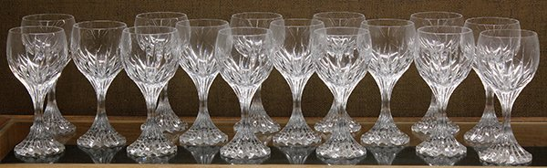 Baccarat crystal Massena red wine glasses