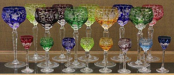 Bohemian cut crystal glasses