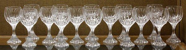 Baccarat crystal Massena pattern white wine glasses