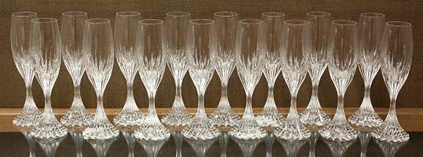 Baccarat crystal Massena pattern champagne flutes