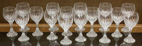 Baccarat crystal Massena pattern  wine glasses