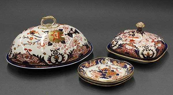 Royal Crown Derby Kings pattern serving pieces