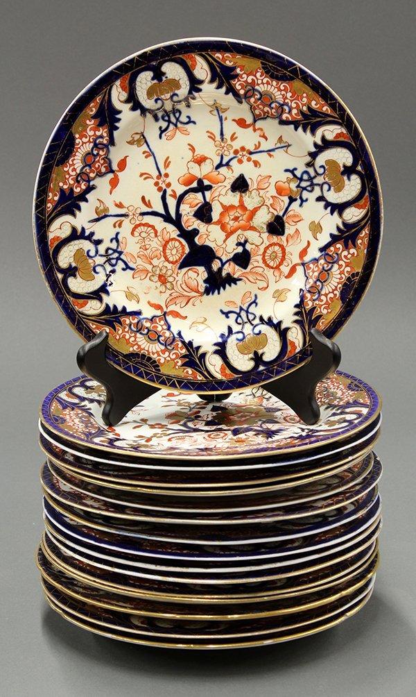 Royal Crown Derby Kings pattern dinner plates