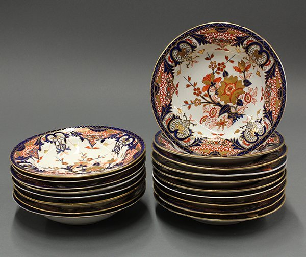 Royal Crown Derby Kings pattern soup bowls
