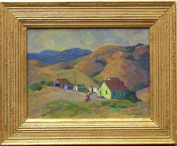 """Jeanette Maxfield Lewis, """"Hillside Home"""", oil on canvas"""
