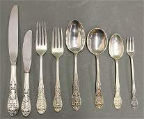 American sterling silver partial flatware service by Ea