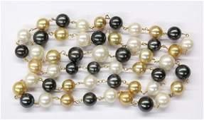 Multicolor South Seas cultured pearl necklace