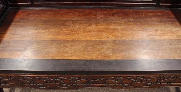 Chinese Carved Wooden Settee/Day Bed - 4
