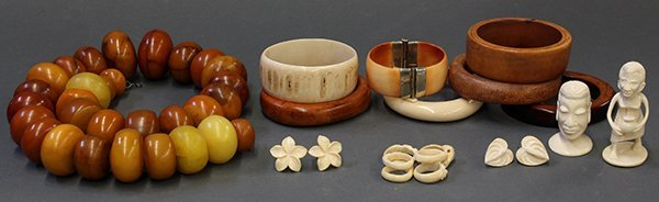 African ivory and Copal jewelry