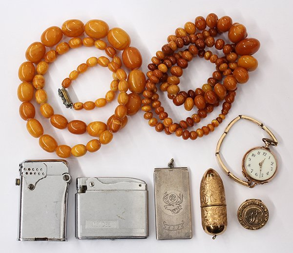 Collection of jewelry items