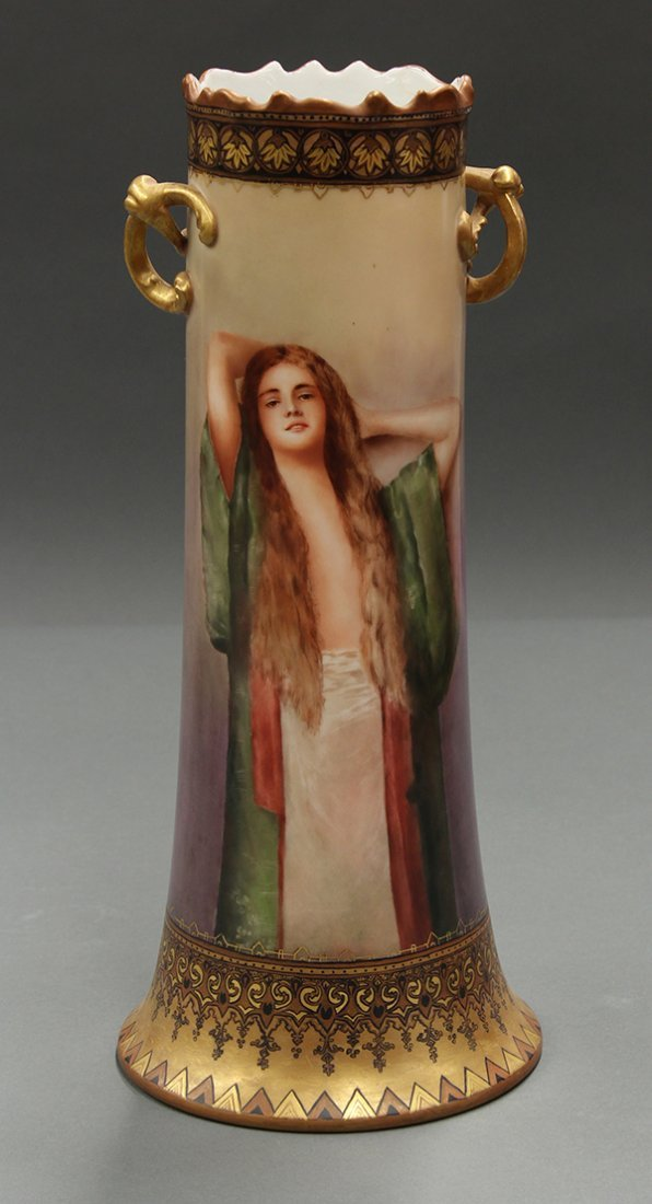 Limoges scenic vase
