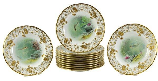 Mintons scenic fish plates