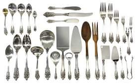 "Wallace ""Grande Baroque"" sterling silver flatware servi"