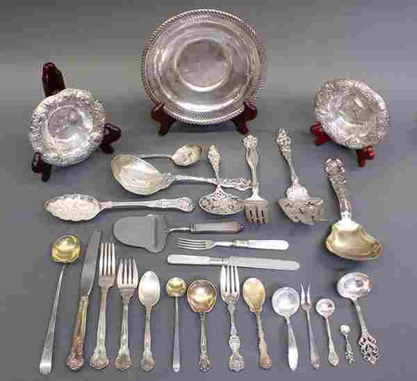 American sterling silver associated flatware, serving p