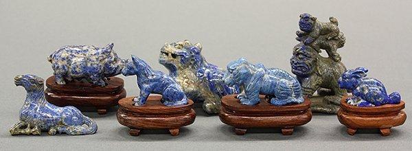 Group of Chinese Lapis Lazuli Animal Carvings