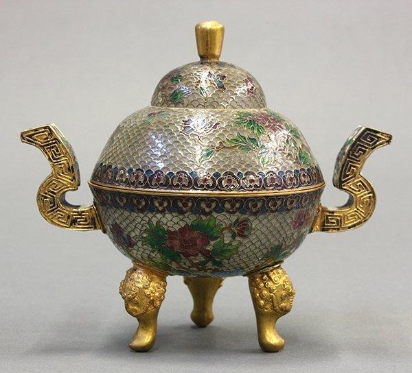 Chinese Plique-a-jour Censer