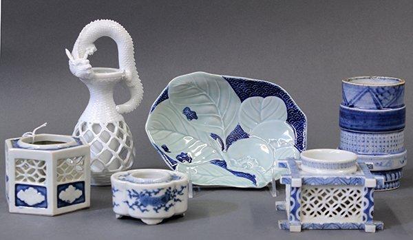 Six Japanese Meiji Period Porcelain