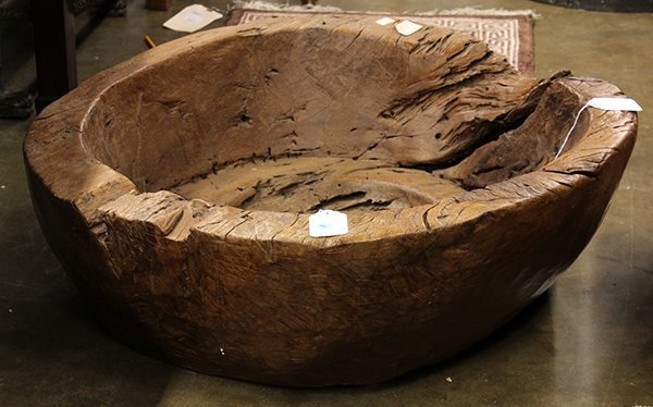 Indonesian teak driftwood bowl