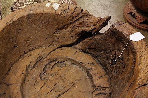 Indonesian teak driftwood bowl - 3