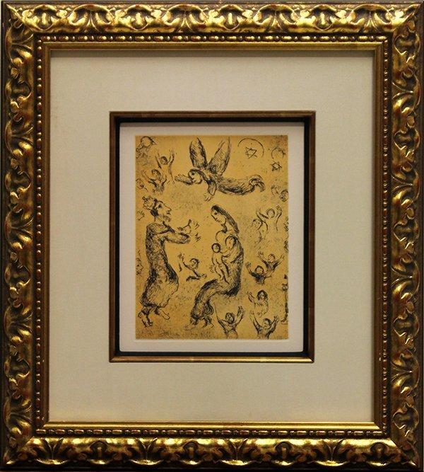 Print, Marc Chagall, Psalms de David #22