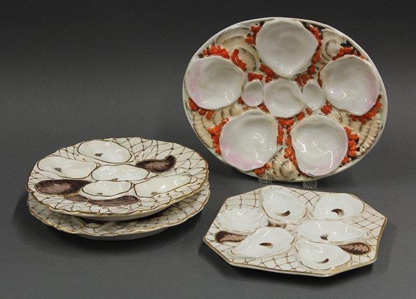 C. Tielisch porcealin oyster plates, 19th century.