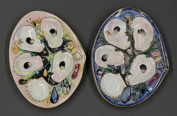 Union Porcelain Works (UPW) oyster plates, 19th century