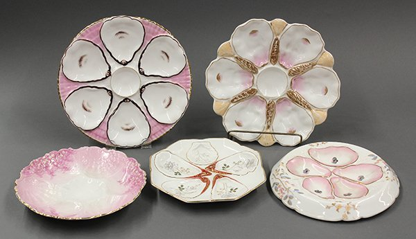 Continental oyster plates, 19th century