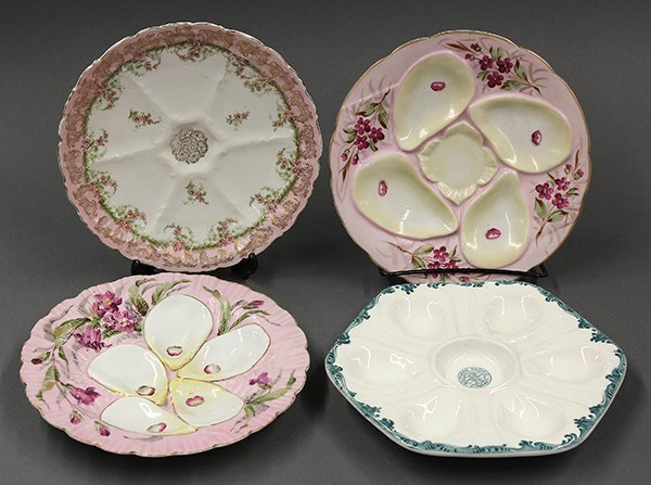 Continental and American oyster plates, 19th century