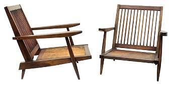 Pair of George Nakashima Cushion armchairs