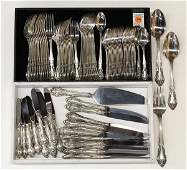 """Gorham sterling silver 'Baronial-New"""" service for twelv"""