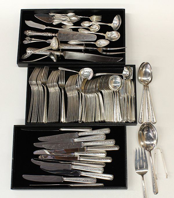 "Towle sterling silver ""Rambling Rose"" flatware service"