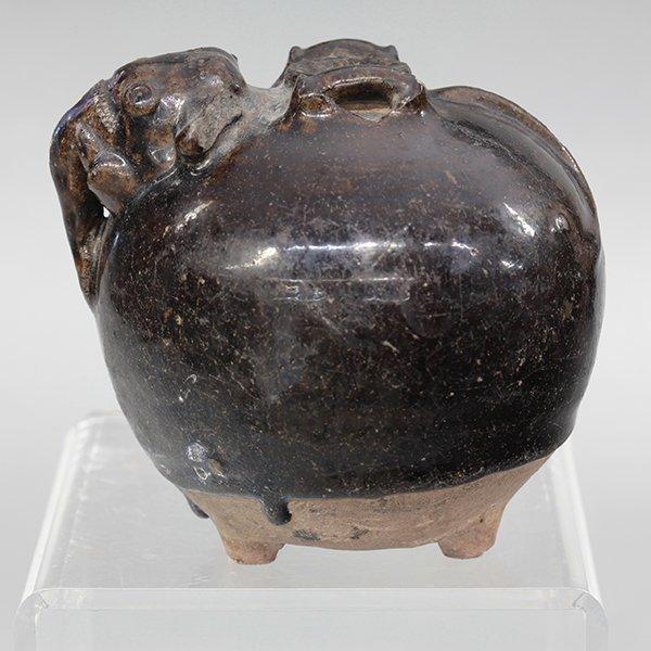 Cambodian Khmer Glazed Jar