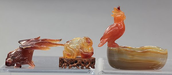 Three Chinese Agate Sculptures