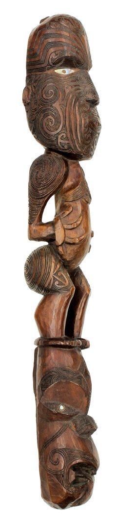 Maori people, New Zealand, 19th century, sculpture