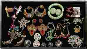 Costume jewelry lot with pieces by Kenneth J Lane and M