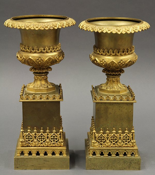 Pair of Continental urns
