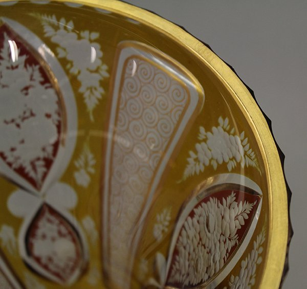 Bohemian glass vase - 6