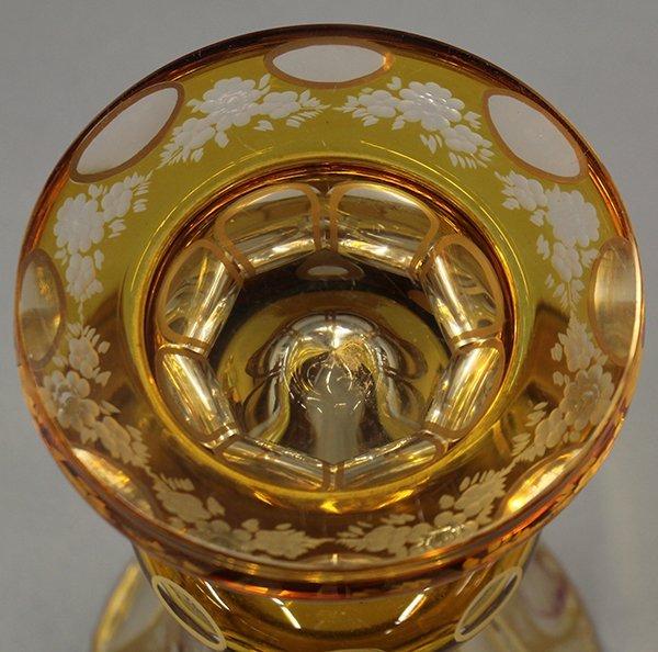 Bohemian glass vase - 7