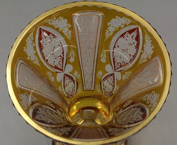 Bohemian glass vase - 8