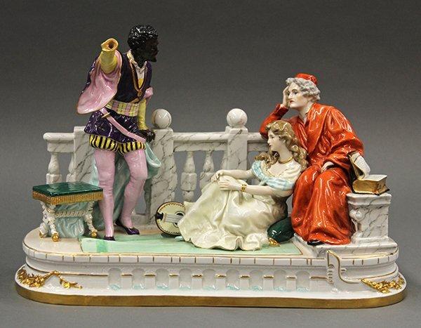 German porcelain figural group