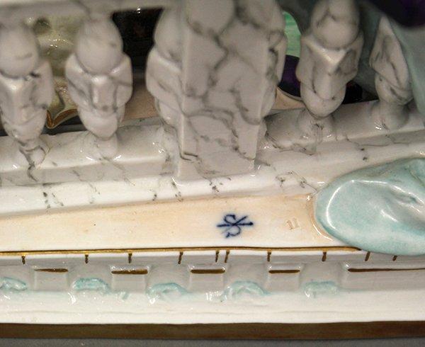 German porcelain figural group - 8
