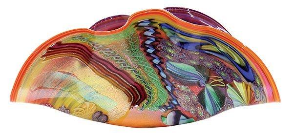 James Nowak large clam shell art glass sculpture. - 2