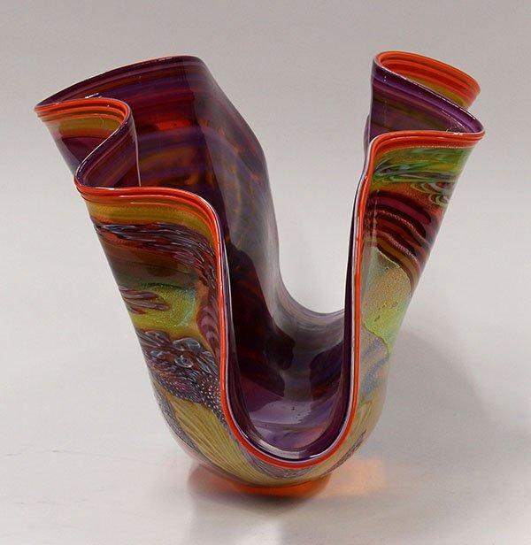 James Nowak large clam shell art glass sculpture. - 3