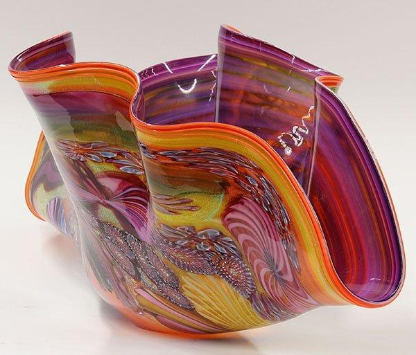 James Nowak large clam shell art glass sculpture. - 6